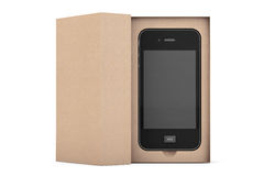 3d Render Smartphone with Box Royalty Free Stock Photo