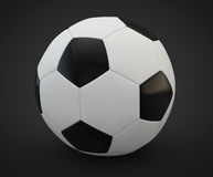 3d render of a soccer ball Royalty Free Stock Image