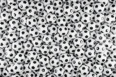 3d render - soccer balls. Footballs Stock Image