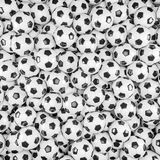 3d render - soccer balls. Footballs Stock Photo