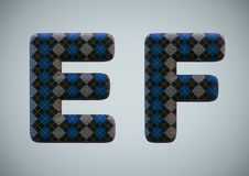 3D Render of Sock Alphabet Numbers and Letters royalty free stock images