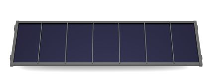 3d render of solar panel Stock Photos