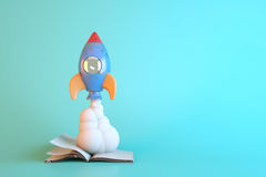 3D Render,Space shuttle taking off Stock Photography