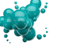 3d render spheres. Abstract background Stock Photos