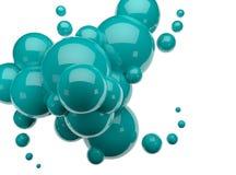 3d render spheres Stock Photos
