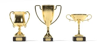 3d render of sport trophies Stock Photo