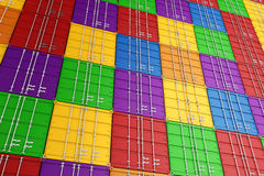 3d render of stacked cargo containers Royalty Free Stock Image