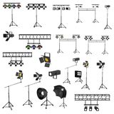 3d render of stage lights Royalty Free Stock Photo