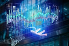 3d render Stock exchange trading data information display on a Stock Photo