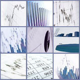 3d Render Stock Market Graph. With Going Up Arrow Stock Photography