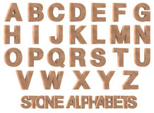 3D Render of Stone Alphabets Stock Photography
