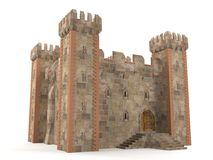 3d render stone brick stronghold Stock Photo