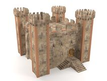 3d render stone brick stronghold Stock Images