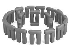3d render of stonehenge Stock Image