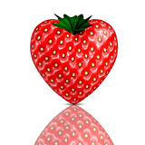3D render of a strawberry Stock Images
