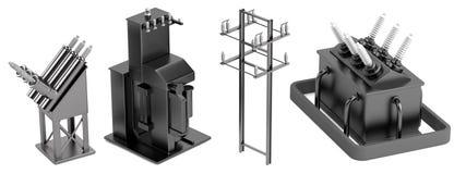 3d render of substation elements Stock Images