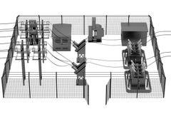 3d render of substation Stock Images