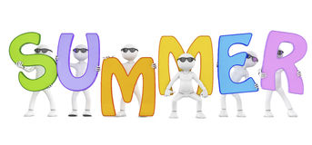 3d render of a summer word and characters Stock Image