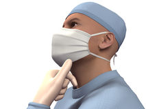 3D render surgeon royalty free stock images