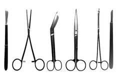3d render of surgery tools Royalty Free Stock Images