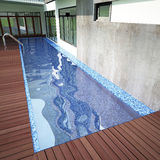 3D render of swiming pool Royalty Free Stock Photo