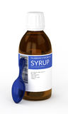 3d render of syrup with spoon isolated over white Royalty Free Stock Images