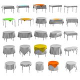 3d render of table with tableclothes Stock Images