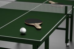 3d render of table tennis Stock Photo