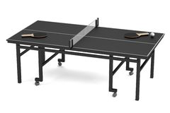 3d render of table tennis Stock Photos
