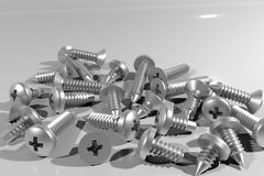 3D render of Tapping screw Stock Image