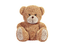 Teddy bear. 3d render of a teddy bear. Front view Stock Images