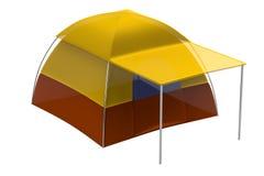 3d render of tent Stock Photo