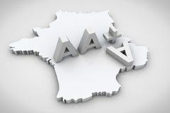 3D render text AAA financial credit notation. 3D render AAA financial credit notation Stock Images