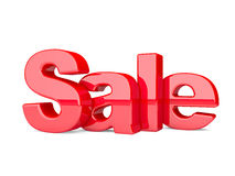 3d render of the text SALE. Text  on a white background Stock Photos