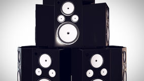 3D render of Thumping Bass Speakers. Stock Photos