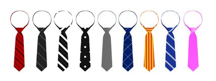 3d render of ties Stock Image