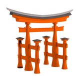 3d render of torii gate Royalty Free Stock Images