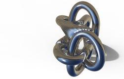 3D render of  torus knot Royalty Free Stock Image