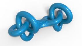 3D render of  torus knot Stock Photos