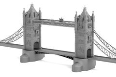 3d render of tower bridge model Stock Images