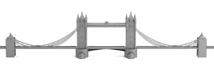 3d render of tower bridge model Royalty Free Stock Photography