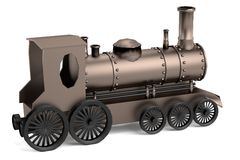 3d render of train Stock Image