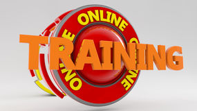 3d render. Training icon Stock Photography