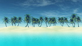 3D render of tropical landscape Royalty Free Stock Image