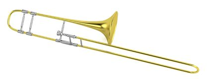 3d render of trumpet Stock Images