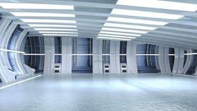 3D render tunnel sci fi