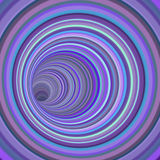 3d render tunnel vortex in multiple purple striped color Stock Photo