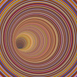 3d render tunnel vortex in multiple striped color Stock Photos