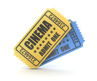 3d render of two cinema ticket Royalty Free Stock Images