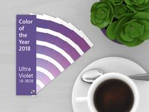 3d render of ultraviolet color palette guide Stock Photo
